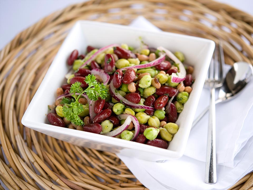 Green Chickpea Three Bean Salad Image