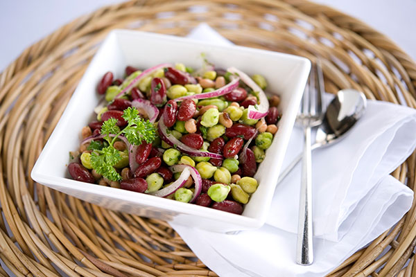 Green Chickpea Bean Salad