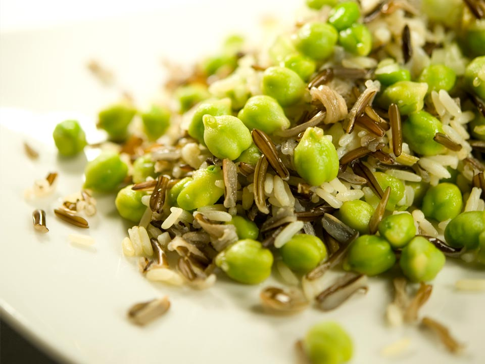 Green Chickpeas with Wild Rice Image