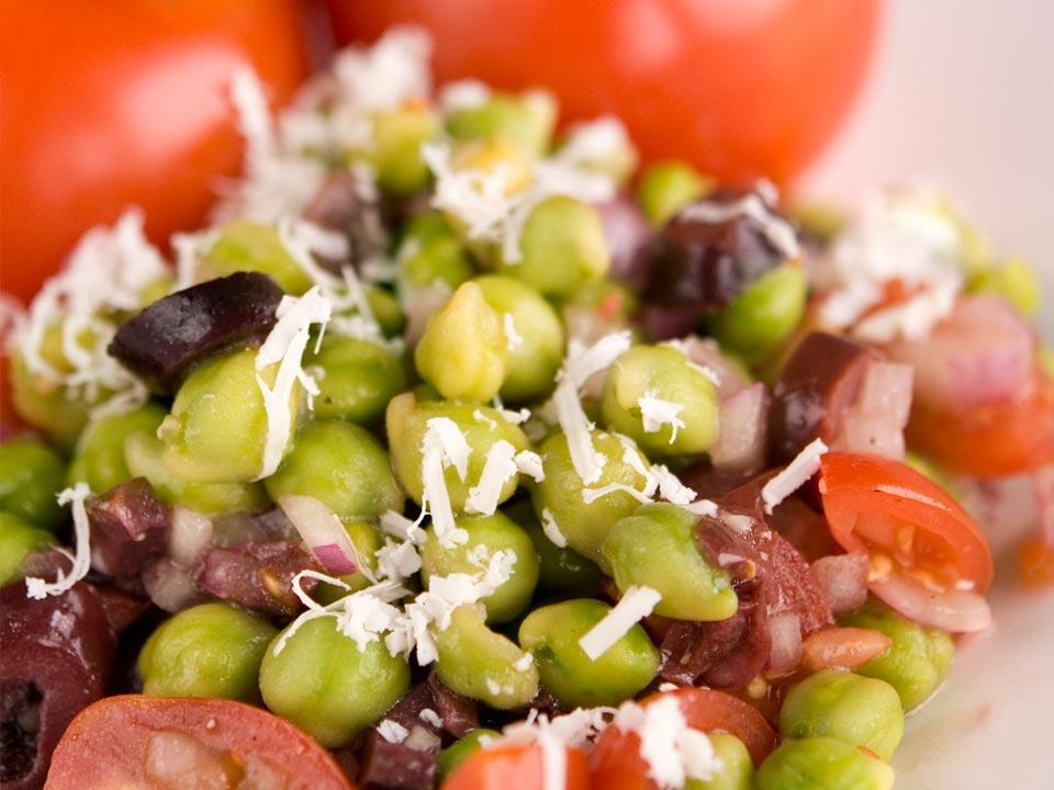Mediterranean Green Chickpea Salad